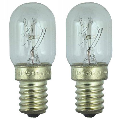Dependable Trading LTD,2 x réfrigérerateur 15 W-Lampe für den Einsatz im Kühlschrank Whirlpool. 240 V SES (E14) Klein Edison Screw Cap-Birne