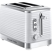Russell Hobbs 24370 White Inspire High Gloss Plastic Two Slice Toaster