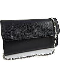 Freyday Echtleder Damen Clutch Tasche Abendtasche Muster Metallic 25x15cm