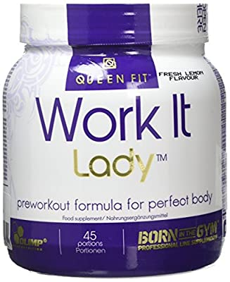 Olimp Labs Queenfit Pre-workout Powder, Work It Lady, Fresh Lemon Flavour, 337 g by Olimp Labs