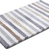 ESPRIT Line Stripe Moderner Markenteppich, Polyester, Grau, 65 x 55 x 2 cm