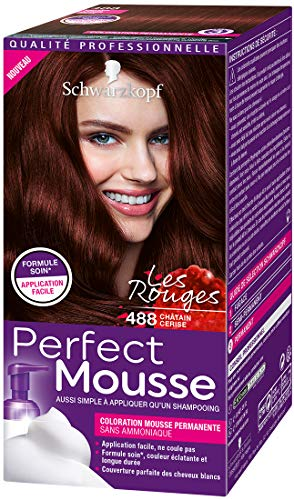 Schwarzkopf - Perfect Mousse - Coloration Mousse Permanente sans Ammoniaque - Chatain Cerise 488