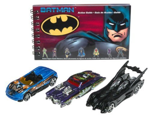 Hot Wheels Batman 3 Pack Batmobile, Joker Evil Twin, Bane Mx48 by Mattel
