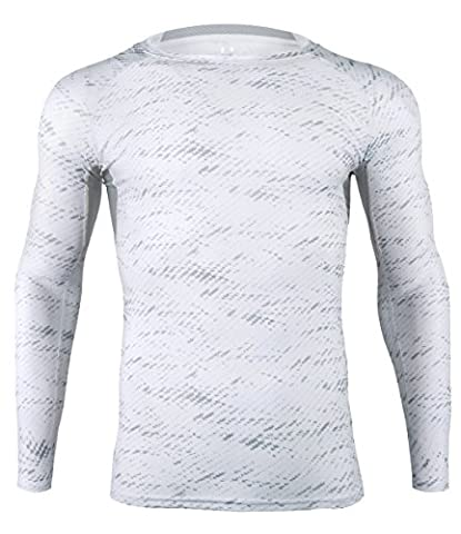 T-shirt de Compression Manches Longues Baselayer Sport Fitness Shirt Homme