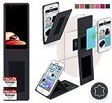 reboon Hülle für Elephone P8 Mini 2017 Tasche Cover Case Bumper | Schwarz Leder | Testsieger