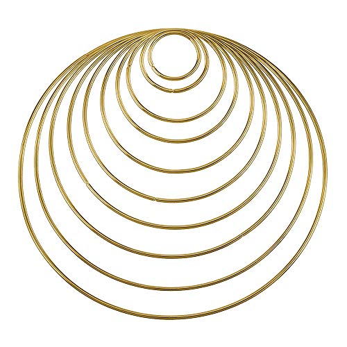 (Alxcio 10 Stück Geschweißte Metallringe Handwerk Metall Hoops für Dream Catcher, Kunsthandwerk, 10 Größen)