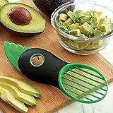 SystemsEleven - Pelador 3 en 1 para aguacates, papayas, magos, color verde