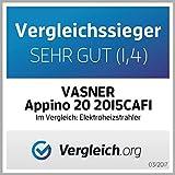 VASNER Infrarot Heizstrahler Appino 20 schwarz, 2000 Watt, Terrassenstrahler mit AirCape Abdeckhaube für Außenbereich, Fernbedienung, App-Bedienung - 7