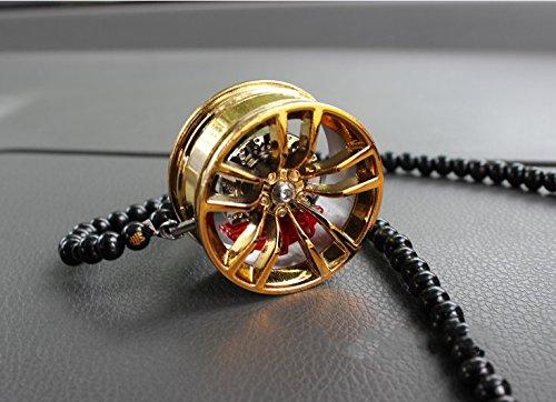 JISHUQICHEFUWU Metall-Rad mit Auto-Bremsen mit Bremssattel personalisierte modifizierte Auto Innen-Ornamente Anhänger