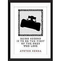 Ayrton Senna que es segunda cita 11 x 14/8 x 10/5 x 7 impresión A3 / A4 / A5, regalo para los ventiladores de la fórmula 1