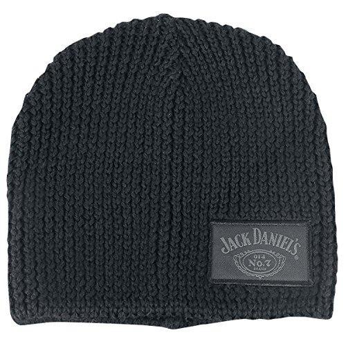 Preisvergleich Produktbild Jack Daniels Beanie Old No.7 Original Label Jack Daniel's Classic Logo Strickmütze Mütze Cap