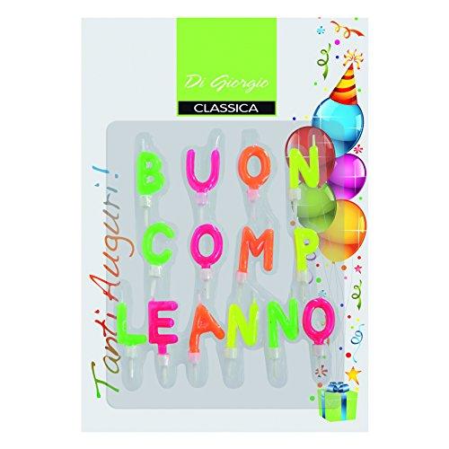 Cereria de Giorgio 5434velas 'Buon Compleanno' con soporte