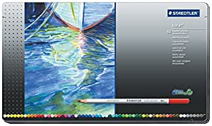 Staedtler Karat Aquarell Premium 125M60 Watercolor Pencil Set in Metal Box - Pack of 60