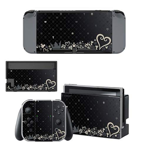 Civiq Game Kingdom Hearts Decal Vinyl Skin Sticker For Nintendo Switch Ns Console Controller Stand Holder Protective Skin Sticker