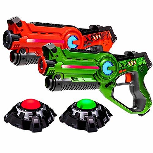 laser-tag-set-2-light-battle-active-infrarot-pistole-grun-orange-plus-2-ziele-lbap22212