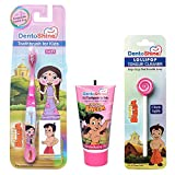 DentoShine Oral Care Combo (Chhota Bheem Toothbrush + Lollipop Tongue Cleaner + Flavored Toothpaste 80 g) (Strawberry)