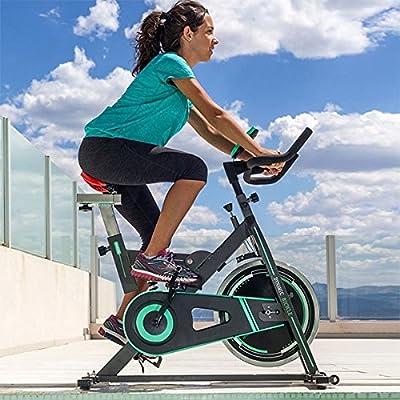 Bicicleta de Spinning Intense de Cecotec. Amortiguador, pantalla LCD, Resistencia variable, Totalmente ajustable y Sillín profesional