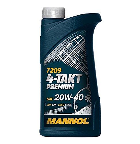 MANNOL 1 x 1L 7209 4-Takt Premium/SAE 20W-40 JASO MA2 API SM Motorradöl Mineral