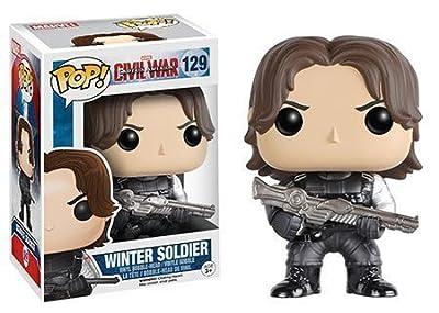 Funko 7233 POP! Bobble - Marvel - Captain America - Civil War - Winter Soldier
