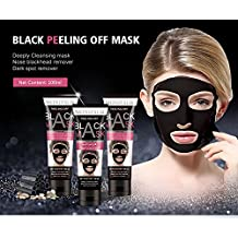 MOND'SUB Peel Off Black Charcoal Mask with Volcanic Soil for removal of Blackhead, Acne Treatment & Oil Control - 100ml