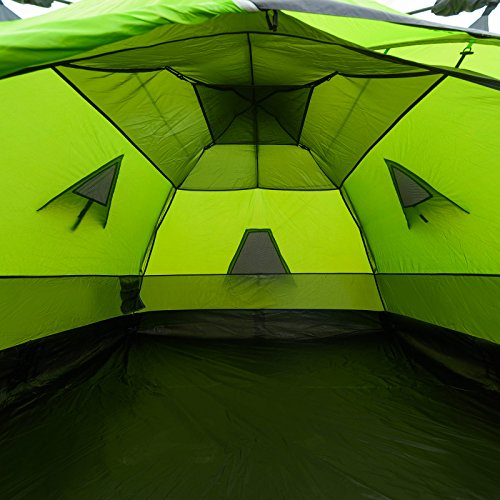 4 Mann Sekundenzelt Qeedo Quick Maple 4, Campingzelt mit Quick Up System, Innenhöhe: 140 cm - Grün - 9