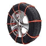 YY-CHIANN 10X/Set Estilo De Coche De Invierno Antideslizante Cadenas De Nieve para Skoda Octavia A5 A7 2 Fabia Yeti BMW E60 F30 X5 E53 Inifiniti Accesorio,1pcs