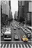 Wallario selbstklebendes Poster - New York Yellow Taxi I in Premiumqualität, Größe: 61 x 91,5 cm (Maxiposter)