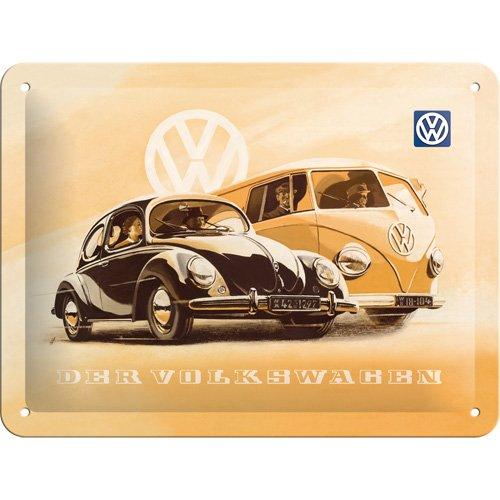 Nostalgic-Art 26130 Volkswagen - VW Beetle & Bulli, Blechschild 15x20 cm -