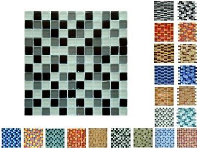 1 Netz Glasmosaik 23 Glanz WGSmix von Mosaikdiscount24 auf TapetenShop
