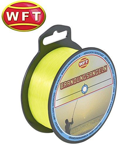 WFT Zielfisch Brandung 250m 0,40mm 11,5kg gelb - Angelschnur zum Brandungangeln auf Dorsch & Plattfisch, Monofile Schnur