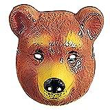 PARTY DISCOUNT Neu Maske Bär aus Plastik, Braun