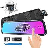 Spiegel Dashcam, ThiEYE Autokamera Video Recorder 1080P Full HD mit 170° Weitwinkelobjektiv,10' IPS Touchscreen, mit Nachtsicht, Loop-Aufnahme und G-Sensor, Parküberwachung