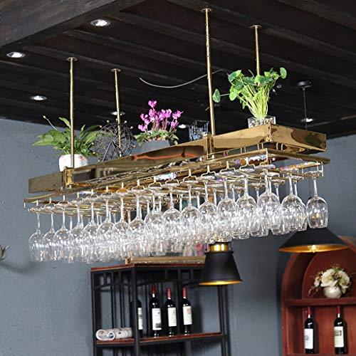 Weinbecher-Rack Weinglas Halter Edelstahl Titan auf den Kopf gestellt Multi-Size Villa Hotel Bar...