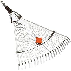 Balai à gazon réglable Combisystem de GARDENA: râteau à feuillage, largeur de travail variable de 30 à 50 cm, idéal pour balayer les feuilles ou l'herbe coupée, compatible avec tous les manches cs (3103-20)
