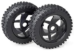 Absima - Wheel Set Buggy Harakiri 6 Spokes/Dirt Black 1:8 (2) (2520014)