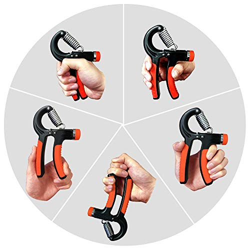 Hipier Entrenamiento de Agarre de Mano Ejercitador de Mano y Antebrazo Hand Grip Strengthener Empu/ñadura Fortalecedor de Dedos para Atletas y M/úsicos para Aumentar la Fuerza