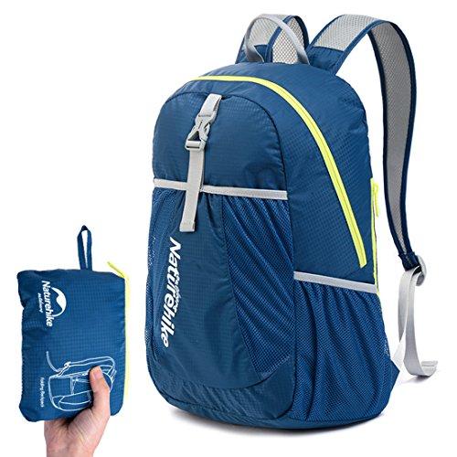 sanva Unisex Zaino Pieghevole 22L Daypack, Trasparenza Zainetto Zaino Bagaglio a mano per uomini, donne e bambini per escursioni all' aria aperta campeggio viaggio, Dunkel blau Dunkel blau