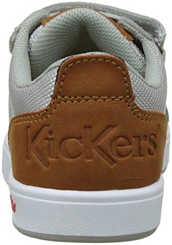 Kickers Greav, Baskets Basses Garçon Gris (Gris)