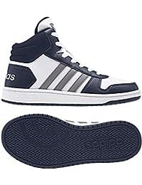 separation shoes 0e954 a7887 adidas Hoops Mid 2.0, Scarpe da Basket Unisex-Bambini, Bianco (Ftwwht