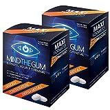 2X MINDTHEGUM Maxi Formato 36 gomme -> Pacchetto da 72 gomme totali | Integratore per Concentrazione, Memoria e Stanchezza Mentale con Caffeina, Teanina, Vitamine, Minerali