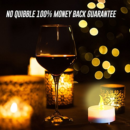 Velas LED sin llama, velas blancas a batería con llamas Color Ámbar y tremolio realista, ideal para San Valentín, Halloween, Navidad, Ocasiones pintados, momentos románicos o como decoración de cumpleaños.