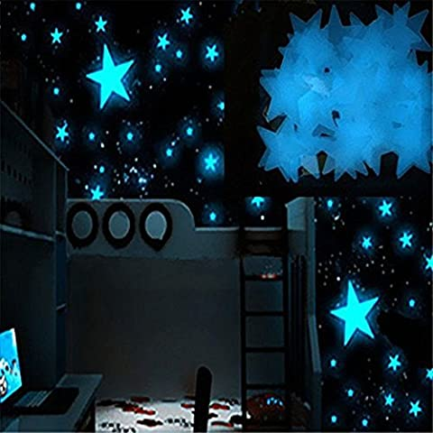 heartogether 80/Set stelle luminose adesivi 3 cm in PVC blu Home