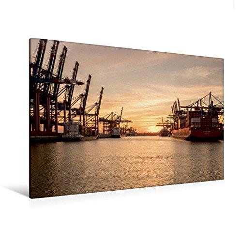and 120 cm x 80 cm quer, Container-Terminal Burchardkai/Eurogate   Wandbild, Bild auf Keilrahmen, Fertigbild auf echter Leinwand, Leinwanddruck (CALVENDO Orte) (Bild Einen Tag Kalender)