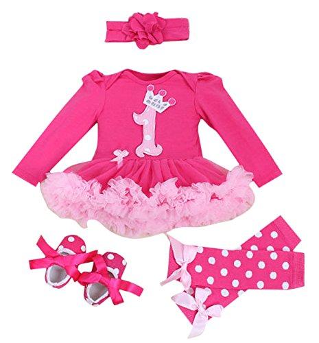 5a31853090dcc Vêtement Bébé Ensemble pour Dance - Barboteuse Jupe Tutu avec Bandeaux de  Cheveux - Adapté 3