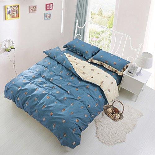 Bettdecke CHENGYI Blue Shell Pattern Pure Cotton Quilt Cover Einzelstück Student Dormitory Home Doppelte Quilt Cover (Size : 180 * 220cm) Blue Shell Quilt