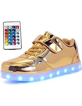Maniamixx Zapatos LED con Mando a Distancia Zapatillas Luminosos Para Niños y Niñas
