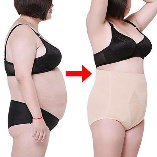 Yuccer Shapewear for Women, Hi-Waist Shapewear Tummy Control Body Shaper for Ladies Plus Size Cotton Slim Control Panties