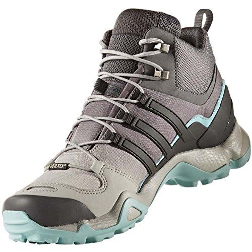 Adidas Terrex Swift R Mid Gtx W, Scarpa Mid Trekking Donna Grigio( GRETWO/UTIBLK/CLAQUA)