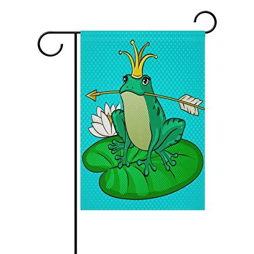 ALAZA Frühlings-Sommer Tier- und Lotus-Fahne, für den Außenbereich, Gartenhof und Gartenhaus,...