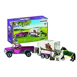 Schleich - Camioneta con remolque para caballos (42346)